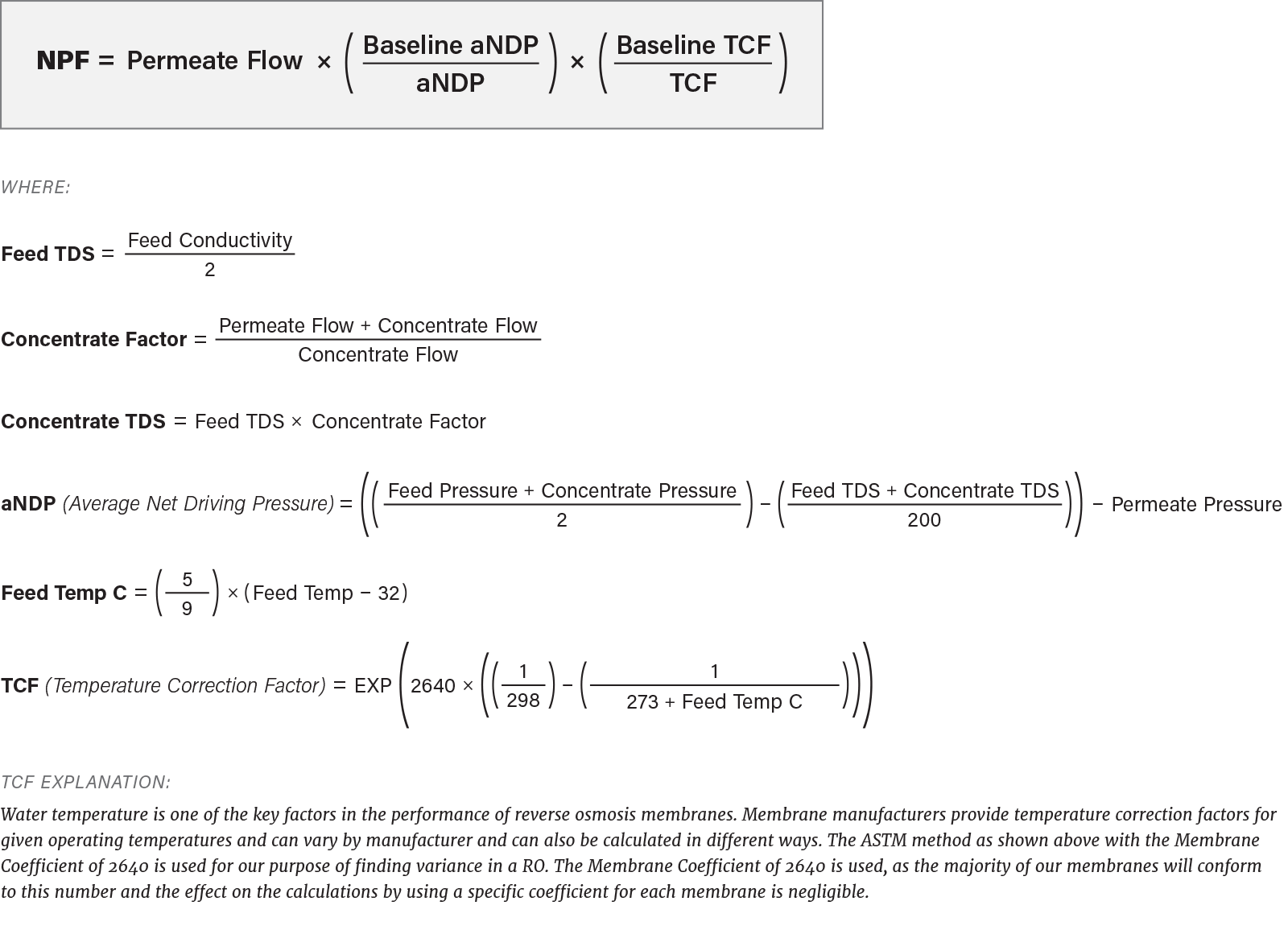 Ro Normalization Equations 1