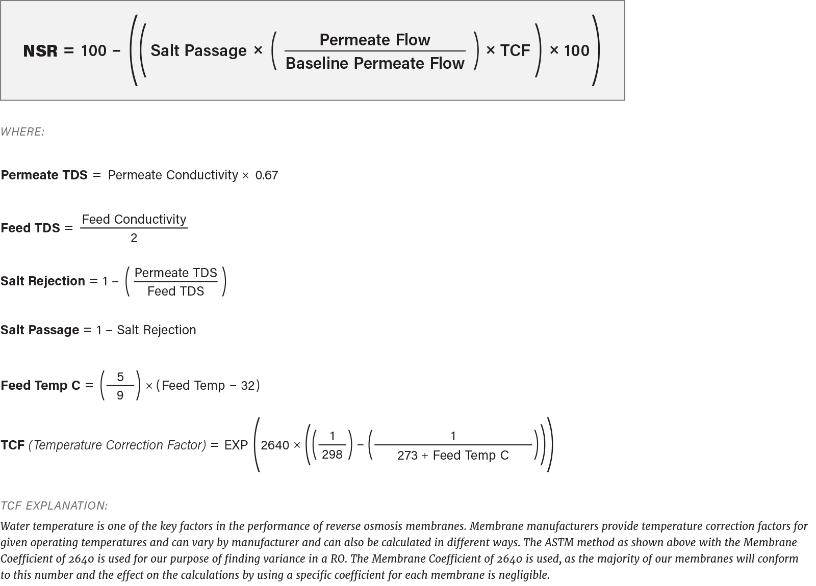 Ro Normalization Equations 2